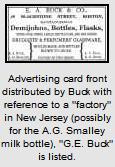 Advertising card for Buck